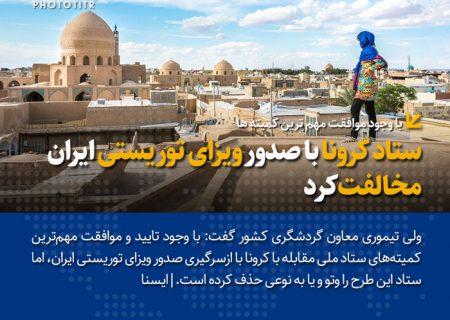 ستاد کرونا با صدور ویزای توریستی ایران مخالفت کرد