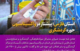 استان فارس؛ پیشتاز در واکسیناسیون حوزه گردشگری